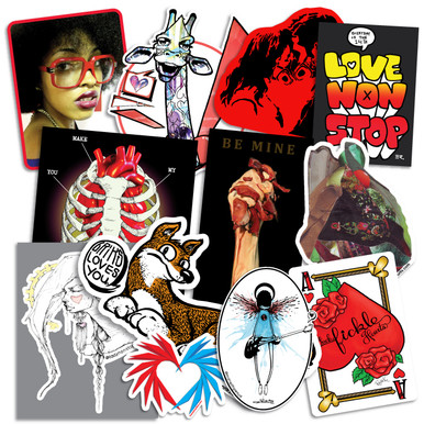 Bumperactive Valentine Series Sticker Pack!