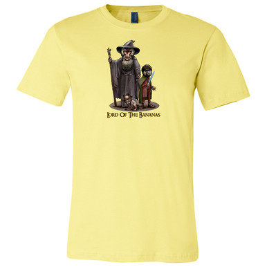 """Lord of the Bananas"" on Yellow, Unisex Tee."