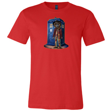 """Dr. Howler"" on Red, Unisex Tee."