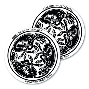 """""""Beer Songs for the Lonely"""" Celtic Graphic Sticker - Pack of Two!"""
