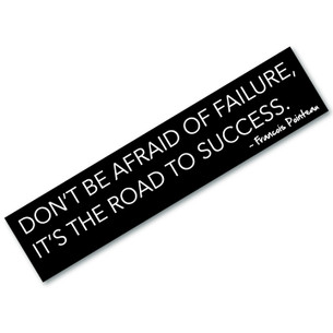 """""""Road to Success"""" quote by Francois Pointeau Bumpersticker"""