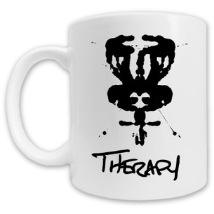 """Therapy DISCgolf"" Logo on White Mug"