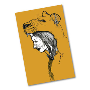 """Lion Girl"" 2.75"" x 4.25"" Sticker"
