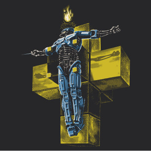 """Robocopus Hypercubus"" -- By Tim Doyle (on Black Tee)"