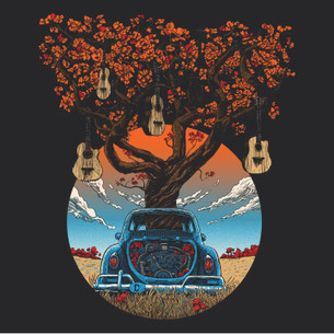 """VW Guitars"" -- By Tim Doyle (on Black Tee)"