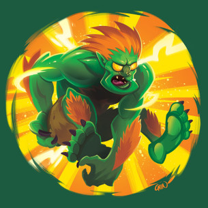 """Blanka"" -- By Kevin Chin (on Evergreen Tee - Unisex Only)"