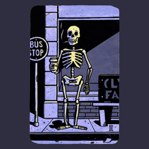 """Last Stop"" -- By Stovepipe (on Navy Tee)"