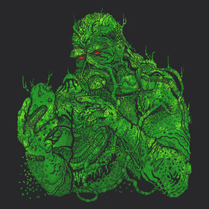 """Swampy Thing"" -- By Lance Schibi (on Black Tee)"