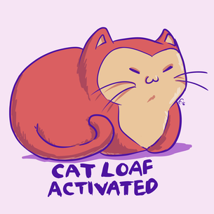 """Cat Loaf"" Graphic -- By Carissa Cornelius (on Pink Tee)"