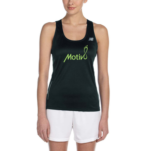 """Don't Hate, Motiv8"" Graphic (on Ladies Black Racerback Singlet)"