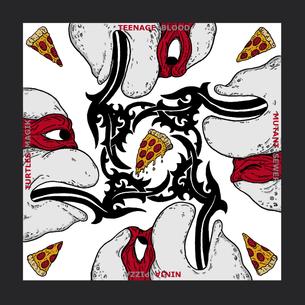 """Blood Sewer Pizza Magik"" -- By Lance Schibi (on Black Tee)"