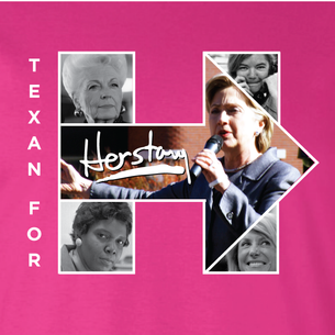 """Texans For Herstory"" Graphic (on Berry Tee) front and back!"