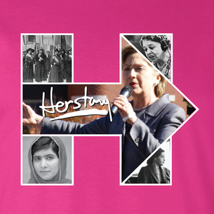 """Women of History Herstory"" Graphic (on Berry Tee)"