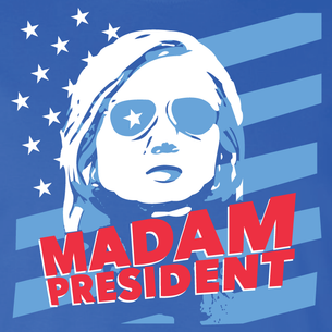 """Madam President"" Graphic (on Royal Blue Tee)"