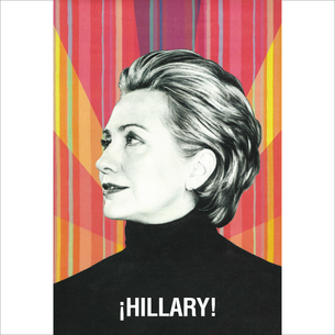 """La Hillary - ¡Hillary!"" Graphic (on White Tee)"