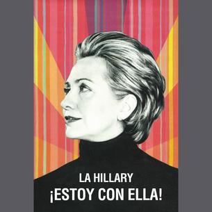 """""""La Hillary - ¡Estoy Con Ella!"""" Graphic (on Dark Heather Tee)"""