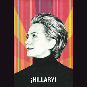 """La Hillary - ¡Hillary!"" Graphic (on Black Tee)"
