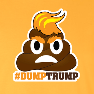 """#DumpTrump"" Graphic (on Gold Tee)"
