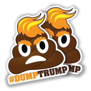 """#DumpTrump"" 3"" x 4"" Custom-Shape Sticker"