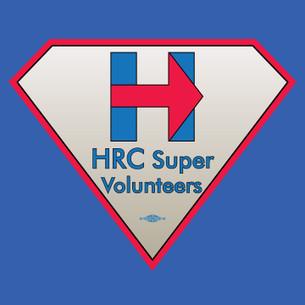 """HRC Super Volunteer Logo Tee"" - Front and Back"