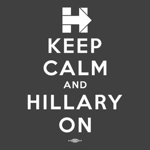 """Keep Calm and Hillary On"" Graphic (on Dark Heather Grey Tee)"