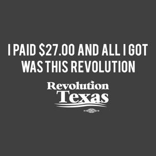 """I Donated $27.00..."" Graphic (on Dark Heather Grey Tee)"