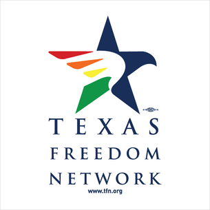 """Texas Freedom Network Logo"" Graphic (on White Tee)"