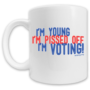 """Young & Pissed Off""  Mug -- 11oz ceramic"
