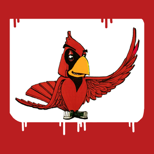 """""""Red Bird"""" Graphic (on Red Tee)"""