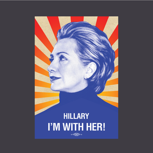 """I'm With Her"" Graphic (on Dark Heather Tee)"