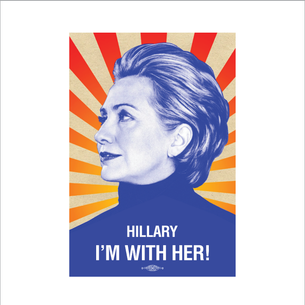 """I'm With Her"" Graphic (on White Tee)"