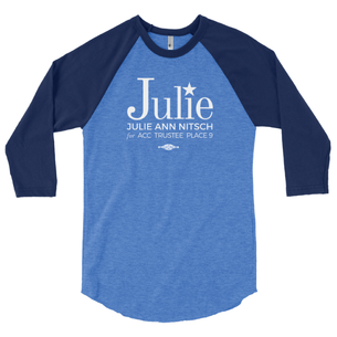 """""""Julie Ann Nitsch for ACC Trustee"""" Graphic (Navy/Royal Baseball Tee)"""