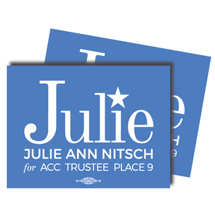 """Julie Ann Nitsch for ACC Trustee""  4"" x 3"" Stickers"