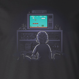 """1986"" Graphic -- By Matt Leunig (on Black Tee)"