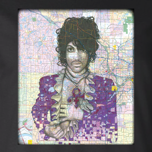 """""""Prince"""" Graphic -- By Janis Fowler (on Black Tee)"""