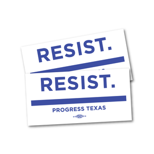 "Two ""Resist."" 8"" x 4"" Stickers"