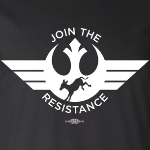 """Join The Resistance"" Graphic (on Black Tee)"