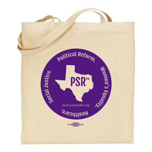 """Pantsuit Republic"" Logo Graphic on Natural Tote"
