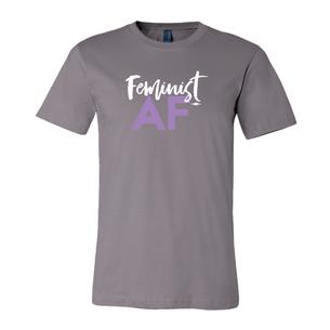 """Feminist AF Script"" (on Asphalt Tee)"