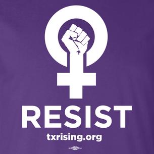 """""""Resist!"""" Graphic (on Purple Tee)"""