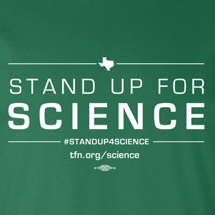 """Stand Up For Science"" Graphic (on Evergreen Tee)"