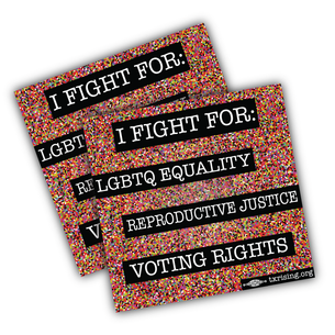 "Two ""Fight for Equality"" 4"" x 4"" Stickers"