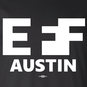 """EFF Austin"" Logo Graphic (on Black Tee)"