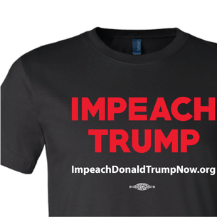 Impeach Trump Logo  Graphic (on Black Tee)
