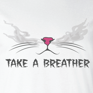 """Take A Breather"" Graphic - SCK! (on White Tee)"