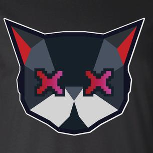 Cat Logo Graphic (on Black Tee)