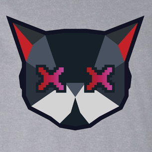 Cat Logo Graphic (on Heather Gray Tee)
