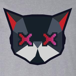 Cat Logo Graphic (on Heather Gray Tee)
