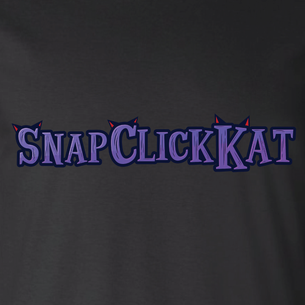 """Snap Click Kat"" Ears Logo Graphic - SCK! (on Black Tee)"