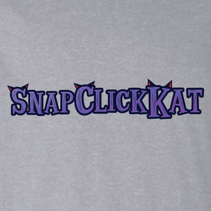 """Snap Click Kat"" Ears Logo Graphic - SCK! (on Heather Gray Tee)"